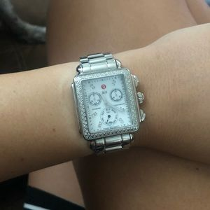 Michelle Diamond Deco Watch